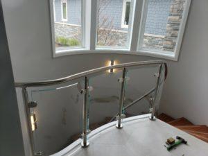 Glass Rail Staircase