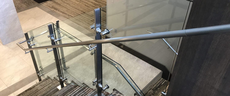 Glass Stair Railing-Installation